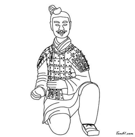 兵马俑图片_简笔画图片_少儿图库_中国儿童资源网
