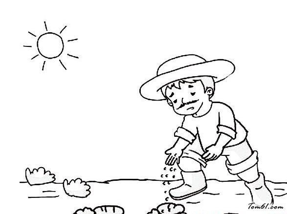秋天播种种地图片_简笔画图片_少儿图库_中国儿童资源