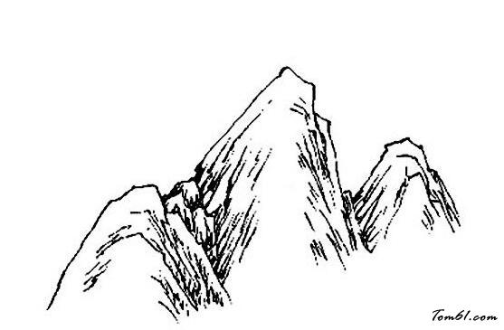 山峰手绘图片大全