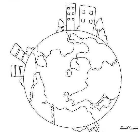 地球家园主题图片_简笔画图片_少儿图库_中国儿童资源网图片