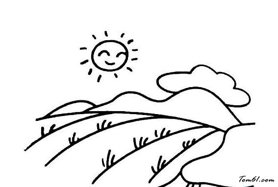 乡村田园风景图片_简笔画图片_少儿图库_中国儿童资源