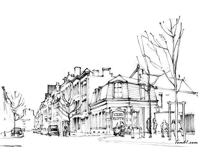 欧洲城市街景图片_简笔画图片_少儿图库_中国儿童资源图片