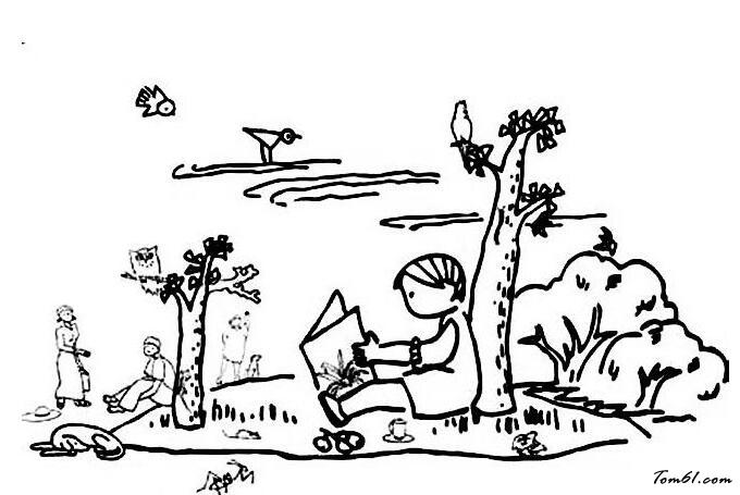 春天风景图片_简笔画图片_少儿图库_中国儿童资源网