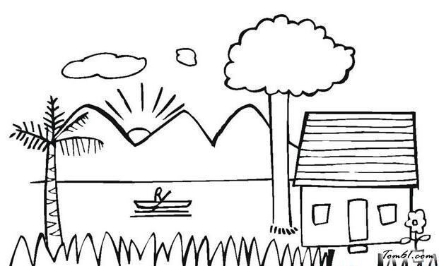 美丽的夏天图片_简笔画图片_少儿图库_中国儿童资源网图片