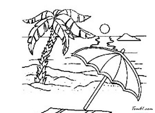夏天风景图片_简笔画图片_少儿图库_中国儿童资源网