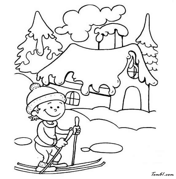 冬天风景图片_简笔画图片_少儿图库_中国儿童资源网