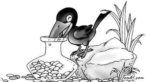 乌鸦喝水故事图片