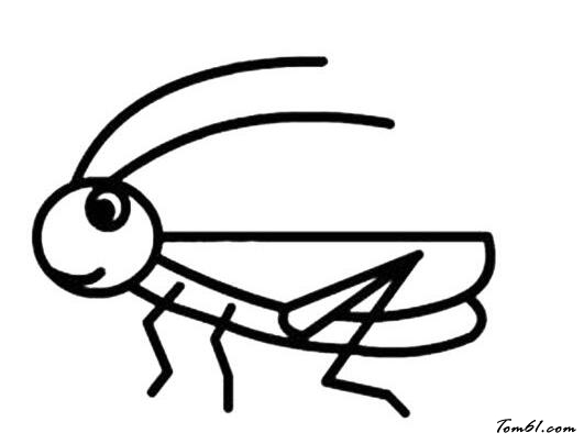 蝗虫2图片_简笔画图片_少儿图库_中国儿童资源网