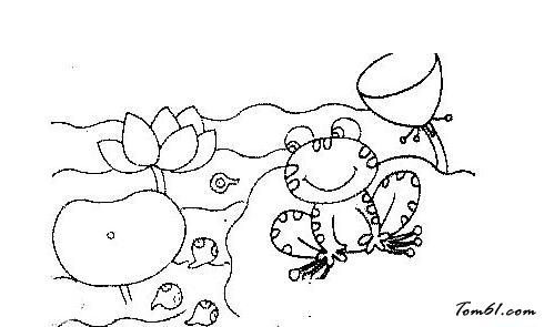 池塘里的青蛙图片_简笔画图片_少儿图库_中国儿童资源