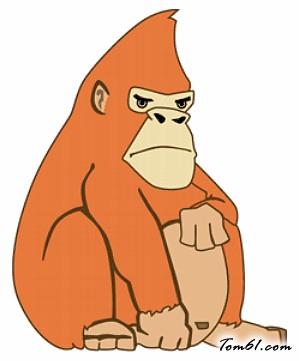 大猩猩2图片_学习简笔画_少儿图库_中国儿童资源网