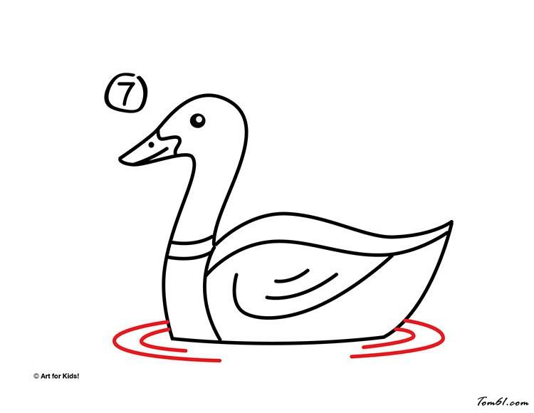 鸭子5图片_学习简笔画_少儿图库_中国儿童资源网