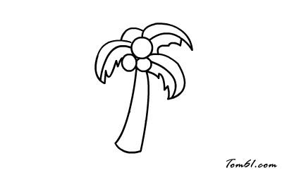 椰子树2图片_学习简笔画_少儿图库_中国儿童资源网