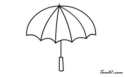 雨伞透视设计图
