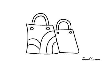 购物袋图片_学习简笔画_少儿图库_中国儿童资源网