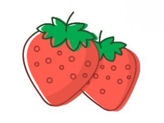 草莓4图片_学习简笔画_少儿图库_中国儿童资源网图片