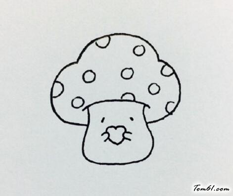 卡通小蘑菇图片_学习简笔画_少儿图库_中国儿童资源网
