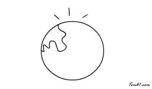 卡通地球图片_学习简笔画_少儿图库_中国儿童资源网图片