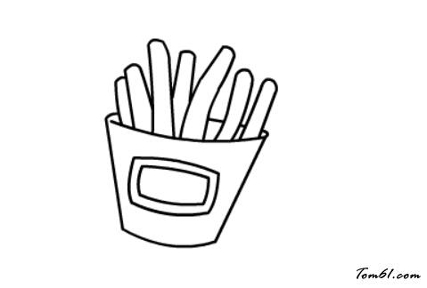 薯条大虾矢量图