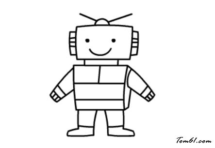 机器人2图片_学习简笔画_少儿图库_中国儿童资源网