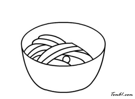 一碗面条图片_学习简笔画_少儿图库_中国儿童资源网