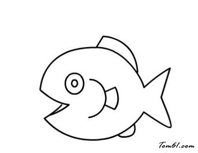 鱼儿吐泡泡图片_学习简笔画_少儿图库_中国儿童资源网