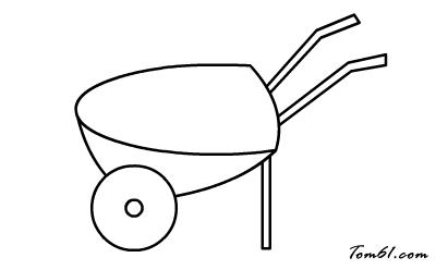手推车图片_学习简笔画_少儿图库_中国儿童资源网