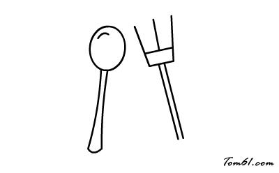 勺子简笔画步骤