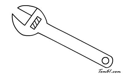 扳手2图片_学习简笔画_少儿图库_中国儿童资源网