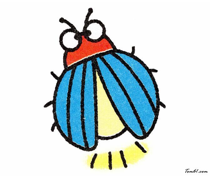 萤火虫图片_学习简笔画_少儿图库_中国儿童资源网