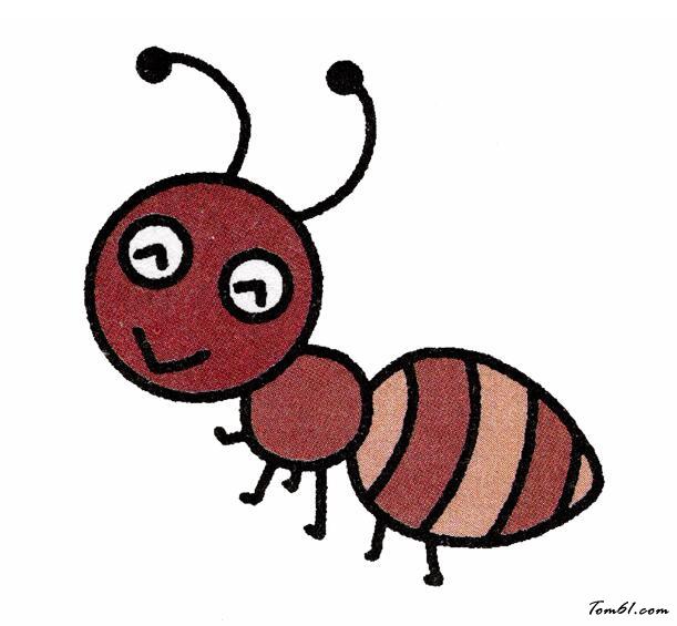 蚂蚁5图片_学习简笔画_少儿图库_中国儿童资源网图片