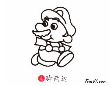超级玛丽简笔画_超级玛丽图片_学习简笔画_少儿图库_中国儿童资源网