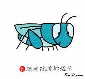 蚱蜢2图片_学习简笔画_少儿图库_中国儿童资源网
