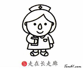 护士2图片_学习简笔画_少儿图库_中国儿童资源网图片