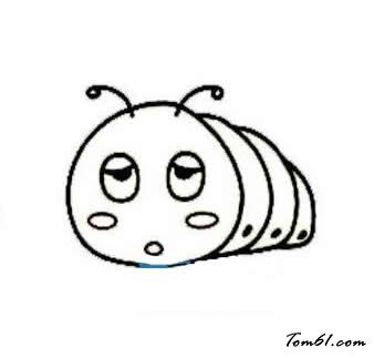 毛毛虫7图片_学习简笔画_少儿图库_中国儿童资源网图片