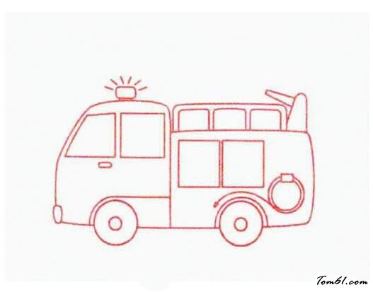 儿童简笔画消防车_消防车3图片_学习简笔画_少儿图库_中国儿童资源网