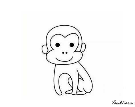 猴子15图片_学习简笔画_少儿图库_中国儿童资源网
