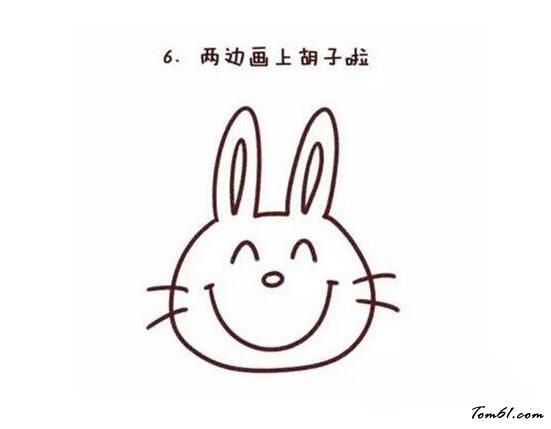 小兔窗花剪法步骤图