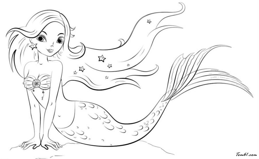 卡通美人鱼图片