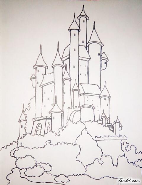 变色龙简笔画_城堡4图片_学习简笔画_少儿图库_中国儿童资源网