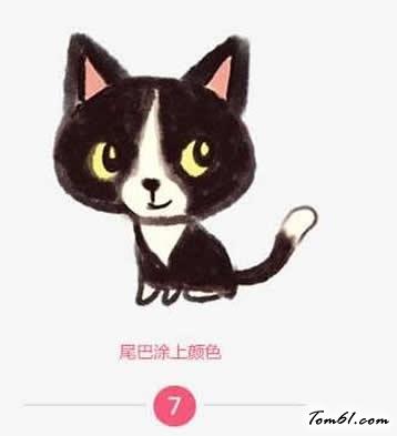 小黑猫 学习简笔画 儿童资源网手机版