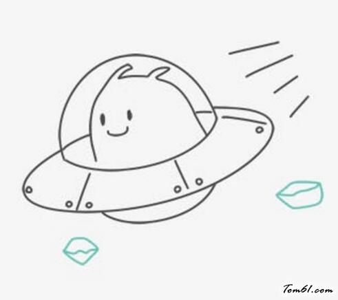 ufo图片_学习简笔画_少儿图库_中国儿童资源网