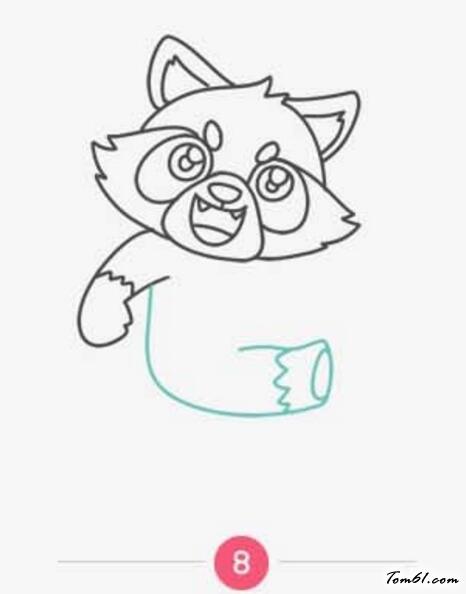 小熊猫3图片_学习简笔画_少儿图库_中国儿童资源网图片