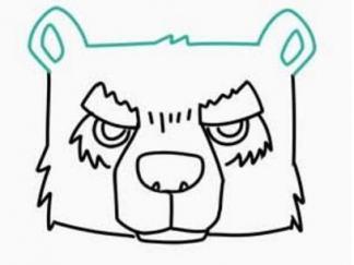 熊头图片_学习简笔画_少儿图库_中国儿童资源网图片