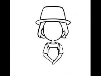 变色龙简笔画_戴帽子的小女孩图片_学习简笔画_少儿图库_中国儿童资源网