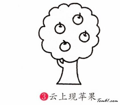 苹果树图片简笔画_苹果树3图片_学习简笔画_少儿图库_中国儿童资源网