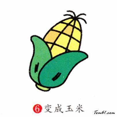 玉米3图片_学习简笔画_少儿图库_中国儿童资源网图片