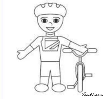 骑自行车的人图片_学习简笔画_少儿图库_中国儿童资源图片