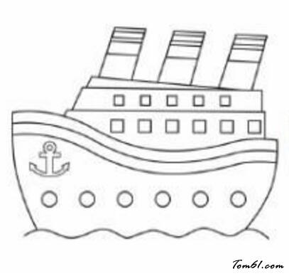 大游轮儿童画_游轮图片_学习简笔画_少儿图库_中国儿童资源网