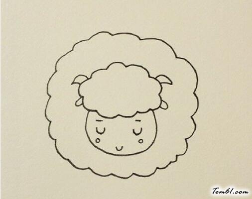 小绵羊6图片_学习简笔画_少儿图库_中国儿童资源网