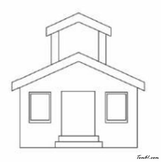 房子简笔画矢量图